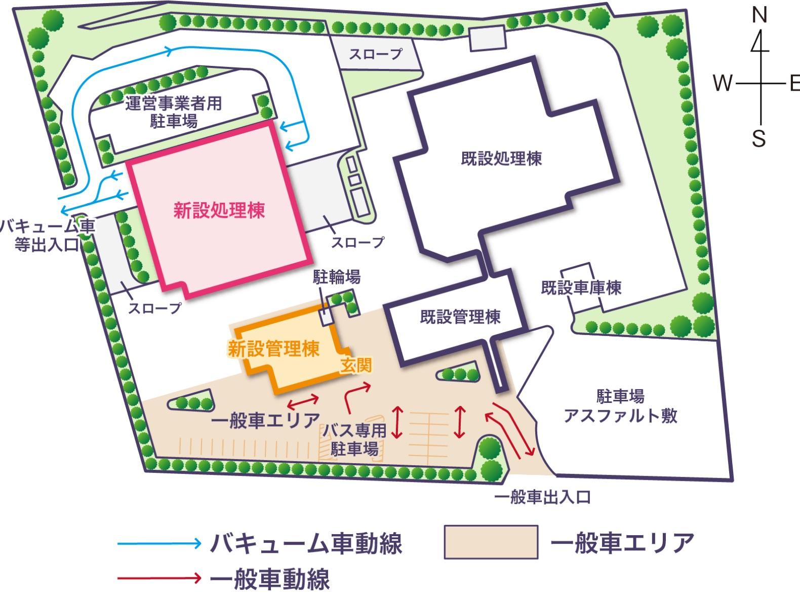 施設全体の地図